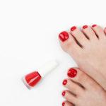 pose de vernis pieds semi-permanent